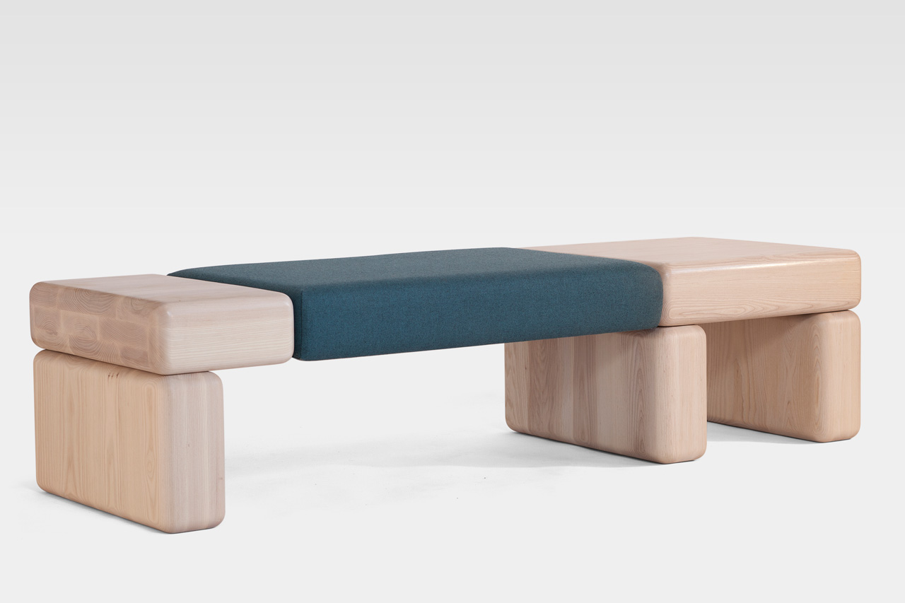Pillowy Bench Angled